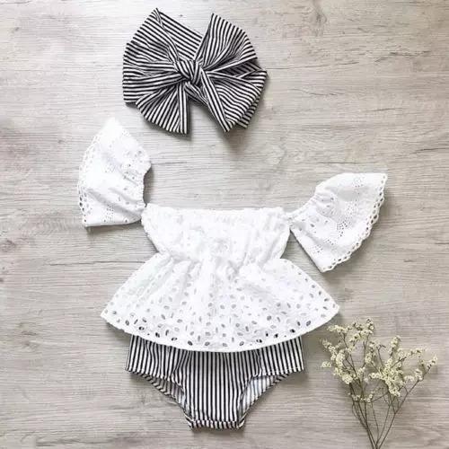 bb8c912e0 Ropa Para Bebé Niña Conjunto Blusa Blanca Manguitas Algodón -   350.00 en  Mercado Libre