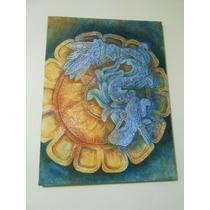 Decorativo Cuadro Pintado Al Oleo Sobre Fibracel