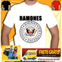 Camisa Ramones Banda Red Hot Nirvana Guns Acdc Rock Camiseta