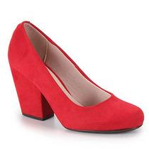 Sapato Salto Feminino Moleca - Vermelho