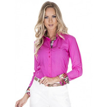 Blusa Social Fashion Pink Feminina Principessa Adriane
