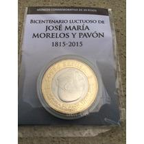 $20.- Pesos 200 Años José Ma Morelos Bu En Cápsula & Cartón