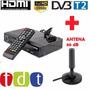 Decodificador Tv Tdt Sintonizador Receptor Con Antena 30 Db