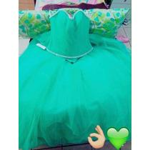 Vestido De Xv Años Color Verde Menta!