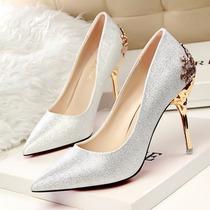 Sapatos Luxo Femininos Importados Salto Alto -frete Grátis
