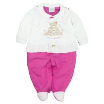 Lindo Macacão Bebê Menina Pink - Tamanho P, G