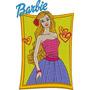 Matriz De Bordado Barbie #1 Boneca Desenho Infantil Princesa