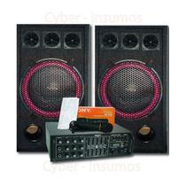 Combo Amplificador Karaoke Mp3 Usb 200w +2 Bafles De 15