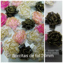 Flores De Tul 20mm Decoraciones Arbolitos Topiarios X50