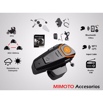 1 Intercomunicador Btheadset 800-1000mts, Bluetooth, Radiofm