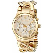 Michael Kors Reloj Mujer Dorado Mk3131 Bracalete Tipo Cadena
