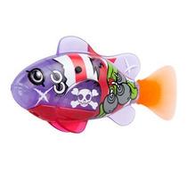 2 X Peixe Série Pirata Robô Fish Dtc 2957 1 Roxo, 1 Laranja