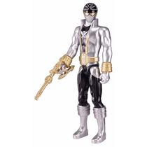 Power Rangers Super Megaforce Ranger Prata - Bandai 30cm