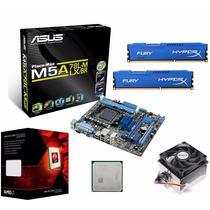 Kit Asus M5a78l-m Lx/br + Fx 6300 3.50ghz 95w + 16gb Hyperx