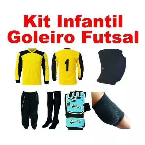 Kit Goleiro Futsal Infantil Completo 6 Peças Promoção - R  159 70dd5c5c6d3a8