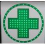 Cartel Led Cruz Farmacia De 40x40 Doble Faz¿