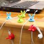 Clip Conejitos Organizador De Cables Escritorio X 6 Conejo
