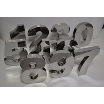 Números Residencial Inox 20 Cm