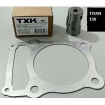 Flange + Pino Cursado Titan 150 2mm (curso + 4mm) Txk