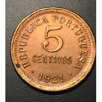 Por076 Moneda Portugal 5 Centavos 1921 Xf-au Ayff