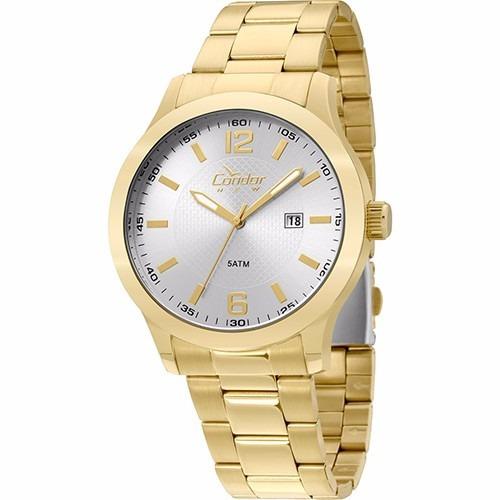 2c035018cb7 Relógio Condor Masculino Dourado Analógico Copc32am 4c - R  179