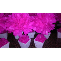 10 Flores Papel De Seda! Maceta Pintada Tu Eventos Listos!