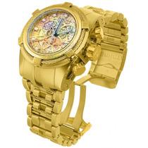 Relógio Invicta 12763 Bolt Zeus Gold Skelecton 18k Original!