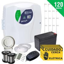 Kit Cerca Elétrica Residencial E Com 120 Mts + Bateria Genno