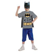 Batman Camisa Con Capa Desmontable Y Máscara