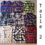 Camisas Leñadoras De Mujer Cuadros Escocesas M/ Largas 2016