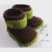 Botitas A Crochet Para Niño /bebe A Crochet.