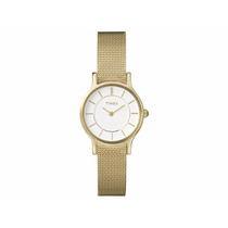 Reloj Timex T2p168 Dorado 100% Original *envío Gratis