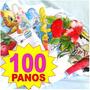 Kit 100 Panos De Prato Com Bainha Saldão - Atacado