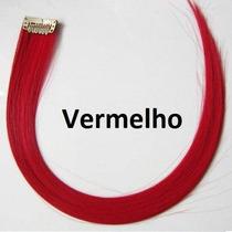 Mecha Colorida Vermelha Lisa / 50 Cm / 4 Unidades!!!