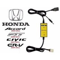 Adaptador Interface Usb Aux Honda New Civic Crv Fit Accord P