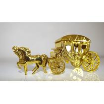 Lembrancinha Carruagem Princesa Dourada - 10 Unids