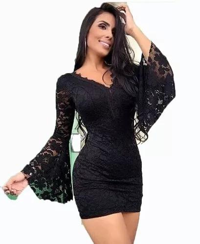 ee1534af9 Vestido Feminino Renda Rendado Bojo Atacado Blogueira Festa - R$ 65,00 em  Mercado Livre