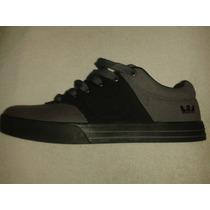 Zapatos Supra Gris Negro Talla 44 Nuevos Skate Aprovecha!!