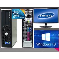 Computadora Intel Dualcore Dell+monitor 17+teclado Y Mouse