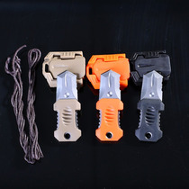 Mini Cuchillo Táctico De Cuello Para Supervivencia Acero 440