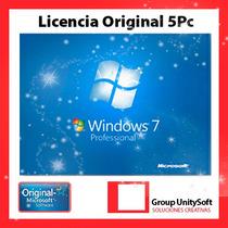 Windows 7 Professional Licencia Original 5 Pc
