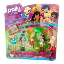 Boneca Polly Pocket Kit 4 Bonecas + Acessorios