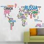 Vinilos Decorativos - Mapamundi - Mapas - Mundo