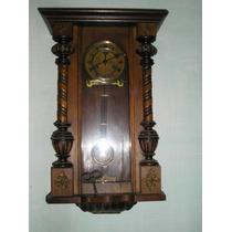 Reloj Antiguo Junghans 1/2 Carrillon C/ Bronces Funcion