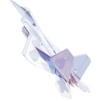 F-22 Raptor Papercraft Para Modelismo En Papel A Escala