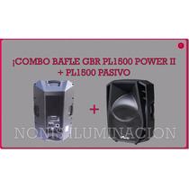 Combo Bafle Activo Pl1500 Power + Bafle Pasivo Pl1500 - Gbr