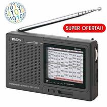 Gadgetfacil - Rádio Portátil Philco Multi Band 10 Faixas