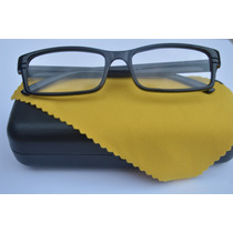 3 Óculos Grau Quadrado Unissex Preto Colorido Fem Só Armação