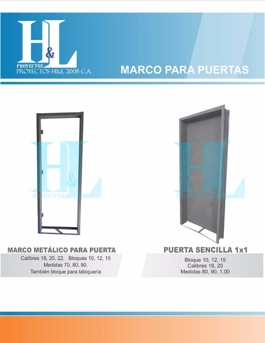 marcos para puertas metalicas b bb