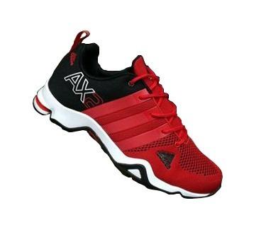 zapatillas adidas hombre rojas y negras
